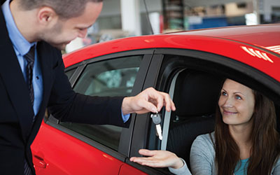 A courtesy car while we repair your vehicle